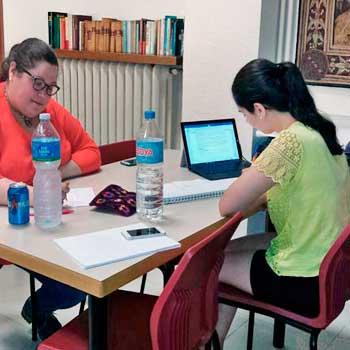 Estudiantes universitarias de María Inmaculada
